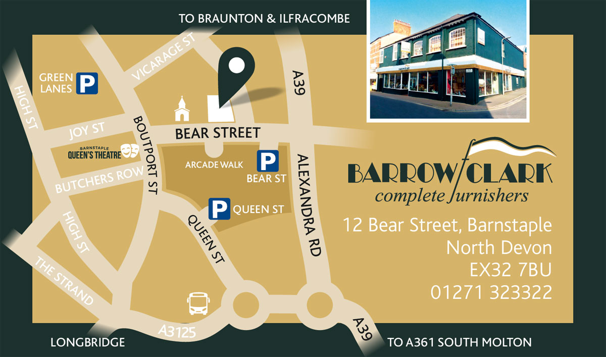 Barrow Clark Complete Furnishers - Location Map